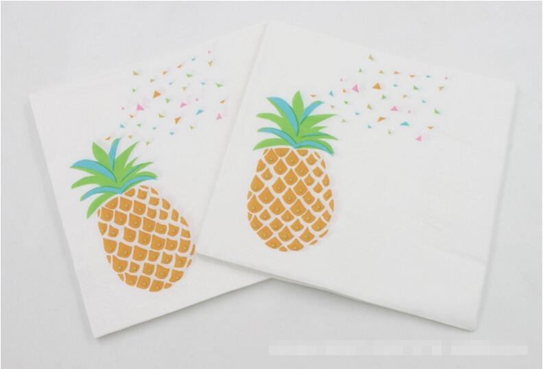 Beverage Paper Napkins Pineapple Event & Party Tissue Napkins Decoration Serviettes 33cm*33cm 20pcs/pack/lot