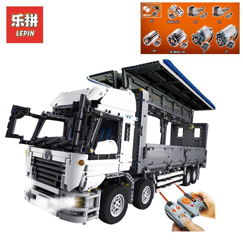 Nouveau LEPIN 23008 technic série 4380 pièces MOC camion modèle blocs de construction briques kits Compatible garçon brithday cadeaux LegoINGlys 1389