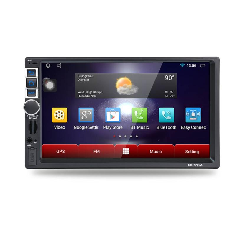 7 2Din Stereo Car Android MP5 Player Bluetooth Touch Radio AM/FM/RDS/GPS/USB/SD OSD Language: English Russian French German