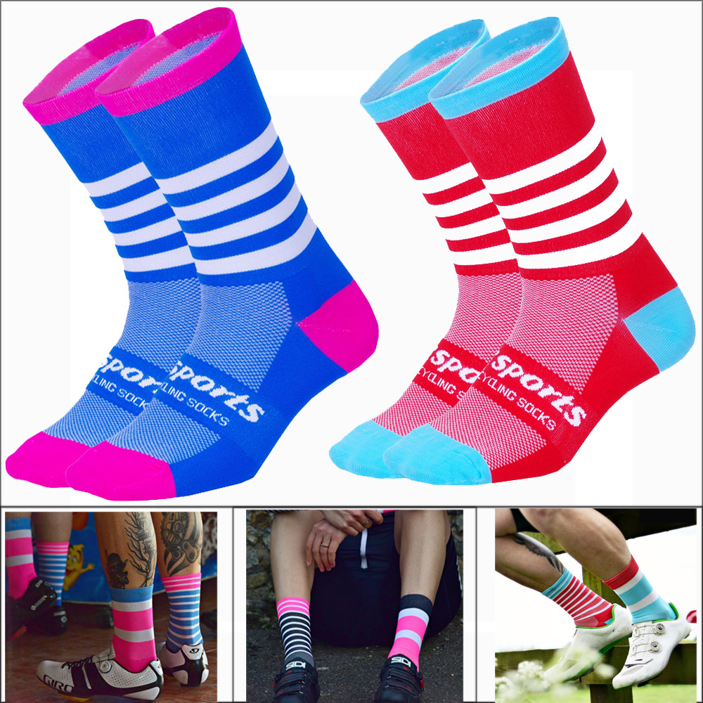 Dropshipping 2018 New High Quality Men Socks Breathable Riding Bicycle Men Long Socks Mountain Road Socks Sportswear