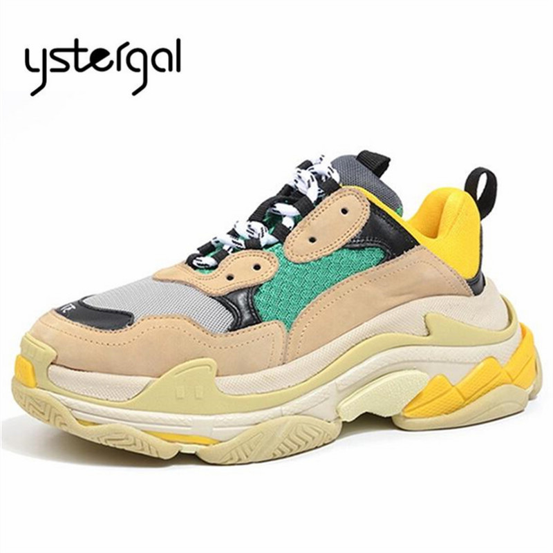 Ystergal mode vert hommes baskets plate-forme hommes chaussures décontracté Zapatillas Hombre respirant appartements hommes chaussures plates formateurs