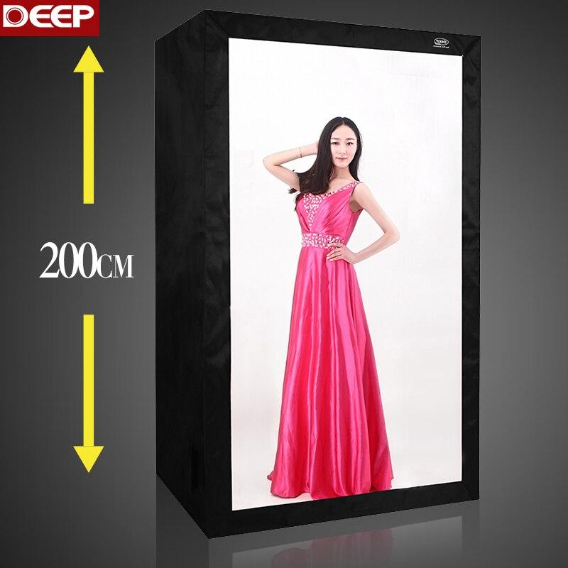 Глубокий большой 2 метра фото палатка 8 шт. светодио дный софтбокс для фотосъемки Комплект 200 см светодио дный отражения света ткань 120X80X200 см