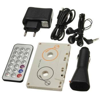 Przenośny klasyczny samochód kaseta SD MMC odtwarzacz MP3 zestaw adapterów z pilotem Stereo Audio odtwarzacz kasetowy tanie i dobre opinie Magnetofon REAKOSOUND Chiński (uproszczony) WHITE s5556 170g 63 x 102 x 11 5mm Mini