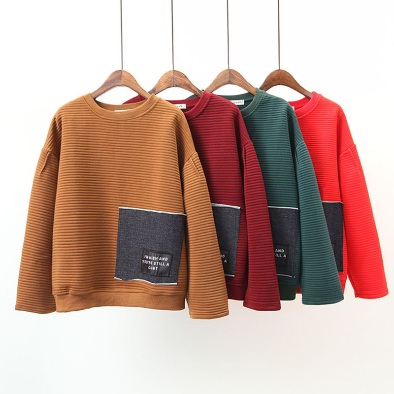 PEONFLY Women Pullover and Sweaters Oneck Knitwear Korean Sweater and PulloverIrregular sueter mujer ugly