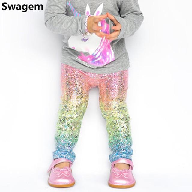 186daa733ce9d Girls Leggings Baby Rainbow Unicorn Sequin Skinny Leggings Children Cute  Sequin Pencil Pants&Trousers Baby Girls Clothes D0267