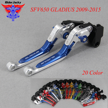 CNC Extendable Foldable Motorcycle brake Clutch Levers For Suzuki SFV 650 SFV650 GLADIUS 2009-2015 2014 2013 2012 2011 2010 цена