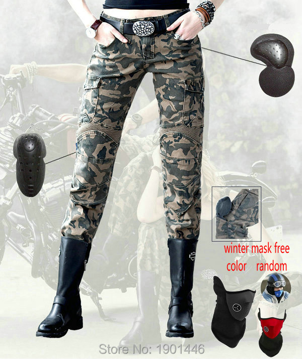 цена Free shipping motorcycle motorpool-camo Pants for women daily riding protection super fit jeans Female motorcyclist trousers онлайн в 2017 году