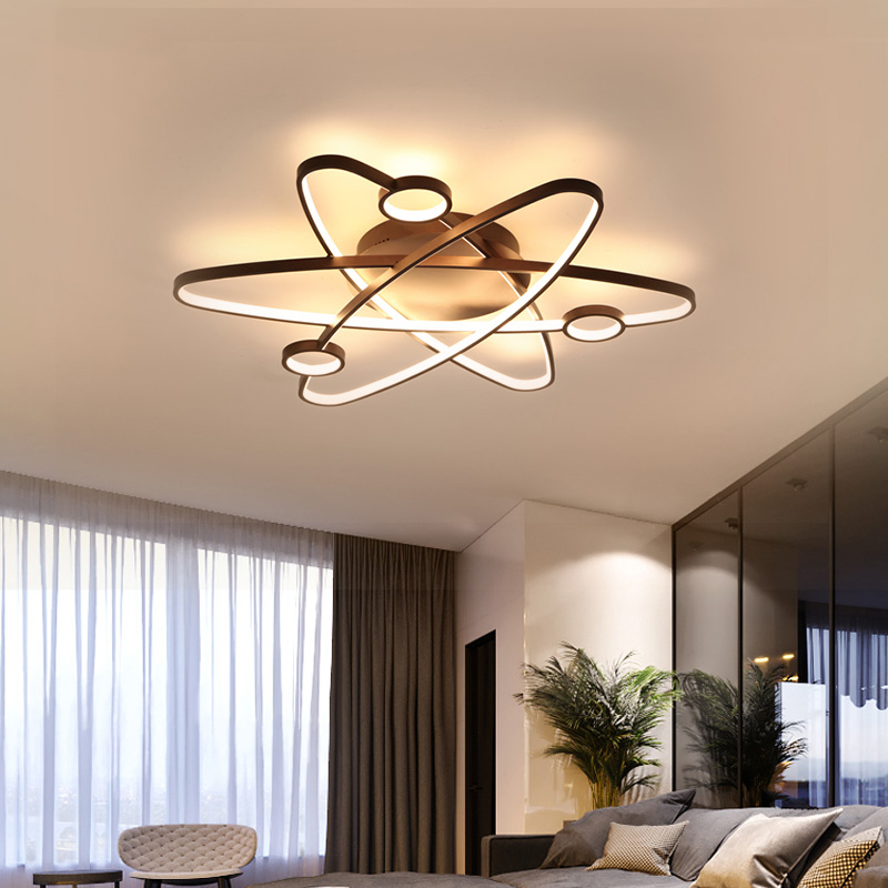 LICAN Modern Led Ceiling Lights For Living Room Study Room Bedroom Home Dec lamparas de techo Modern Led Dimming Ceiling Lamp-in Ceiling Lights from Lights & Lighting
