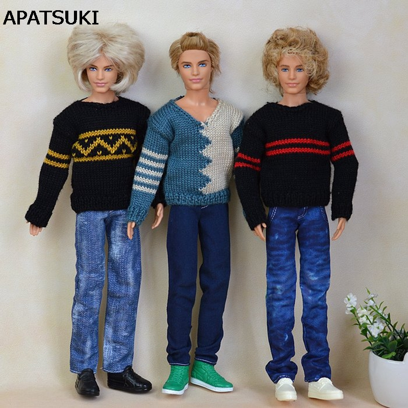 High Quality Handmade Jeans Long Pants For Barbie's Boyfriend Ken Doll Casual Clothes Male Doll Clothes