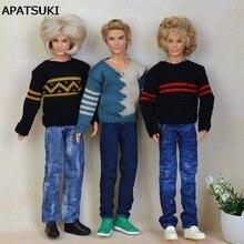 Di alta Qualità Fatti A Mano Dei Jeans Pantaloni Lunghi Per Barbie Fidanzato Ken Ragazzo Bambola Casual Vestiti della Bambola di Sesso Maschile Vestiti