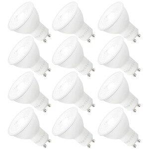 Светодиодные прожекторы с регулируемой яркостью 7 Вт GU10, светодиодные прожекторы, световые лампочки, холодный белый свет, 5000K 650Lm яркость 185 ~ ...