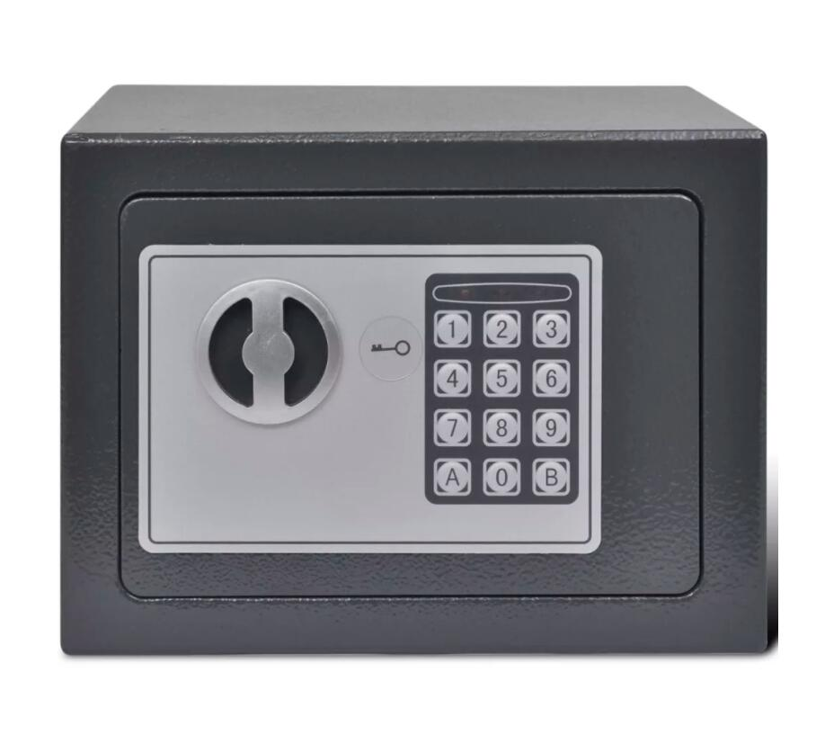 VidaXL Highly Secure Electronic Safe Is Perfect For Use At Home Or In The Office Equipped With A 2-Bolt Locking Mechanism