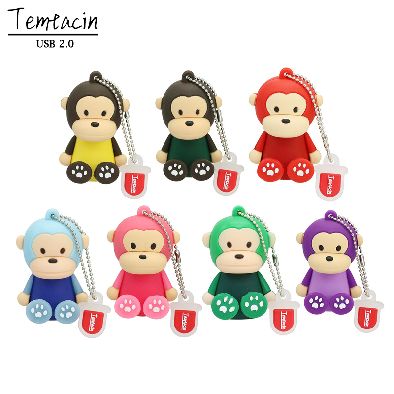 Systematic Hot Sale Cartoon Cute Monkey Usb Flash Drive Pendrive 4gb 8gb 16gb Usb Stick External Memory Storage Pen Drive Usb Flash Drives External Storage
