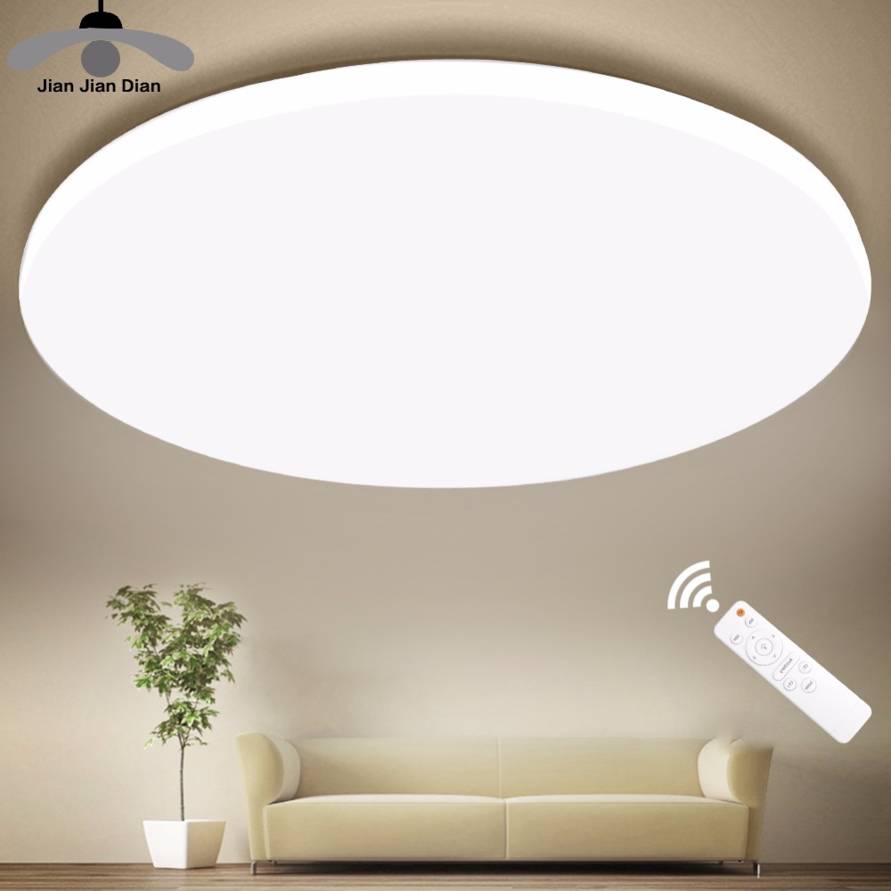 Ultra Thin LED Ceiling LED Ceiling Lights Lighting Fixture Modern Lamp Living Room Bedroom Kitchen Surface Mount Remote Control(China)