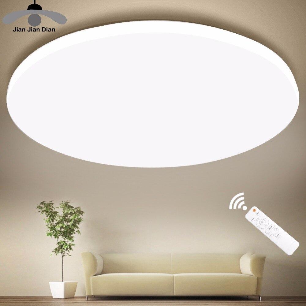 Ultra Mince LED Plafond LED Plafonniers Luminaire Moderne Lampe Salon Chambre Cuisine Surface Mount Télécommande