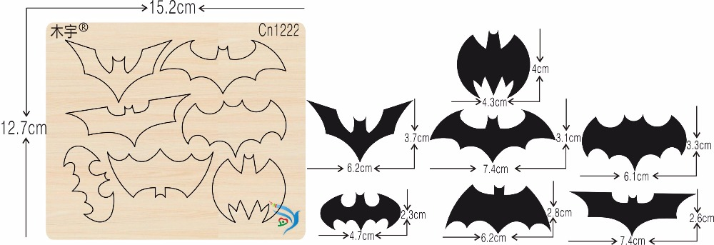 Bat new wooden mould cutting dies for scrapbooking Thickness 15 8mm