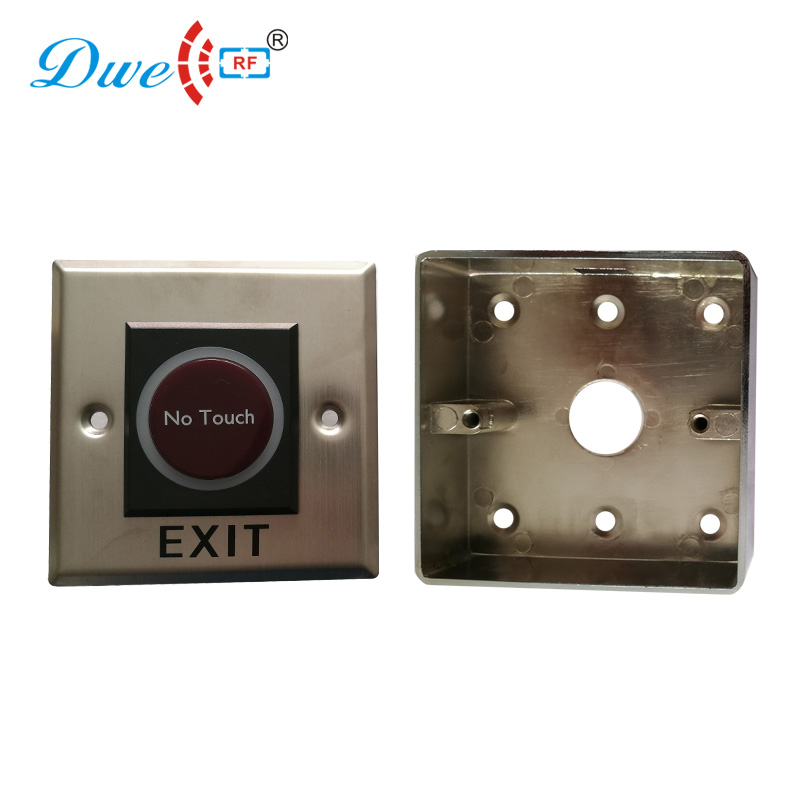 DWE CC RF access control exit button parts 86 back case for infrared door release buttons dwe cc rf access control kits aluminum alloy silver door open push release switch with key