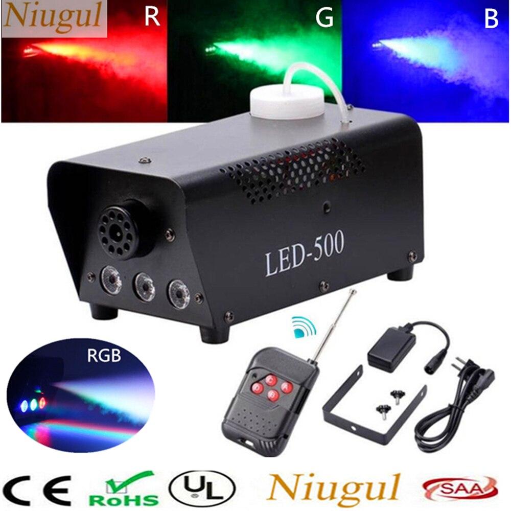 500W LED Fogger/LED Fog Machine For Home Party DJ Mist Equipments/Wireless Remote Control 500W Smoke Machine With RGB LED Lights