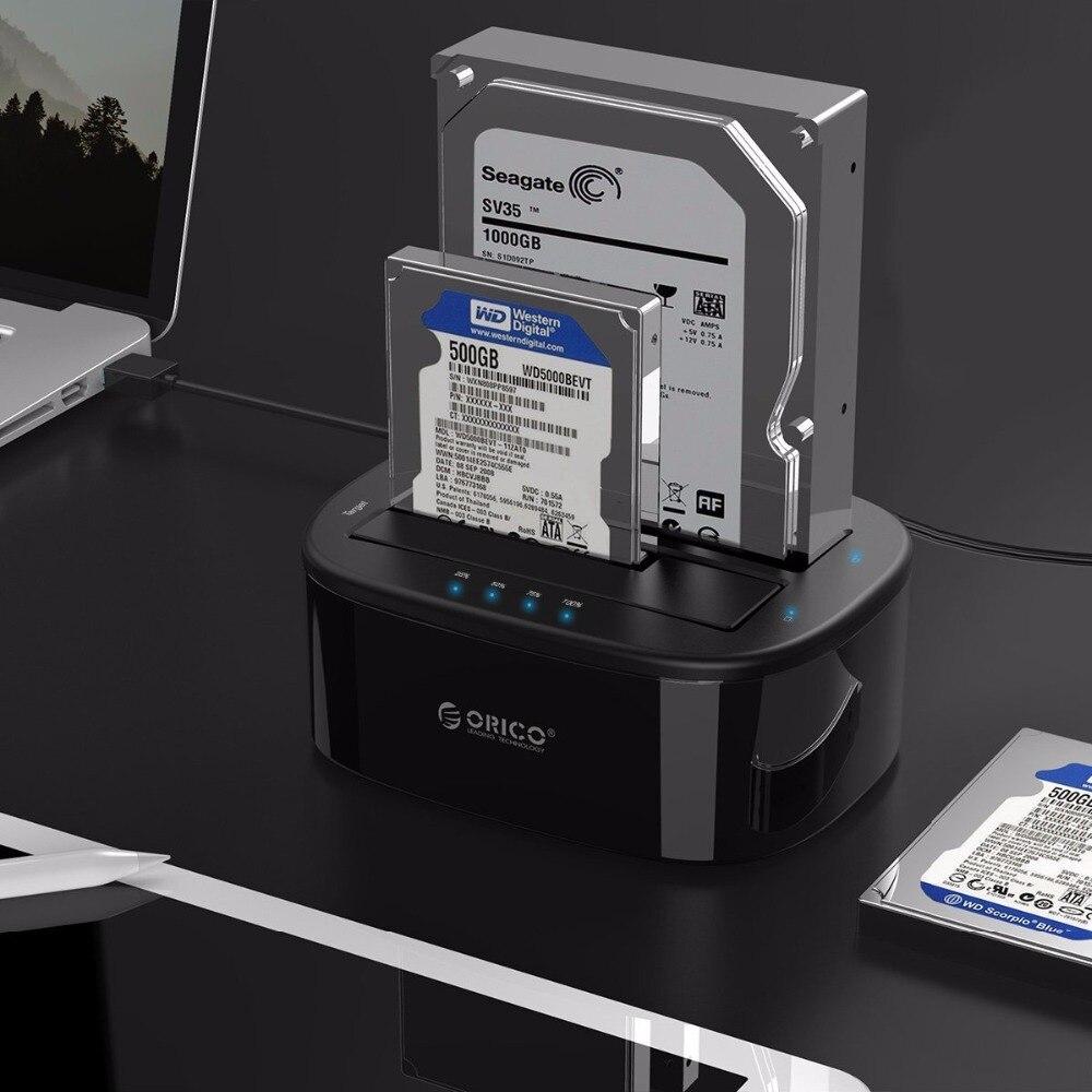 にオリコの usb 3.0 SATA HDD ケースデュアルベイハードドライブドッキングステーション 2.5/3.5 インチ HDD SSD とオフラインクローン機能 UASP  グループ上の パソコン & オフィス からの HDD ケース の中 2
