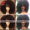 180 Density Natural Short Afro Kinky Curly Wigs Synthetic Lace Front Wig Heat Resistant Hair Synthetic Wigs for Black Women