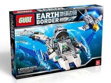 GUDI 8212 Earth Border The Blue Sea Way Minifigure Building Block 180Pcs Bricks Toys Best Toys
