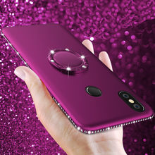 Hot Diamond Silicone Case for Xiaomi Pocophone F1 Redmi 4A 6 6A S2 5A Plus A Prime Note 4X 4 Pro Mi Max 3 A1 A2 Lite With Ring(China)