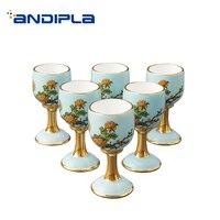 G20 15 мл китайский Стиль высокого класса Керамика фарфора Все Handmade Кубок чаши для Саке Drinkware дома золото чашка Подарочная коробка свадебные п