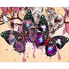 DIY 5D diamond painting flower butterfly embroidery color full rhinestones mosaic
