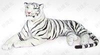 Enorme 155 cm mentir propenso boneca tigre brinquedo de pelúcia tigre branco jogar travesseiro, presente de aniversário t8875