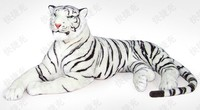 huge 155cm lying white tiger plush toy prone tiger doll throw pillow , birthday gift t8875