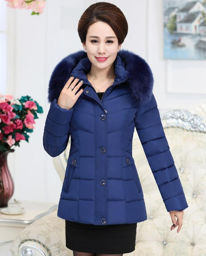 ФОТО The latest big yards women winter thick cotton-padded jacket coat hair get white duck  down jacket women's clothes