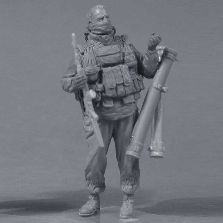 1/35 Spetsnaz GRU (1999), 2 figure, Resin Model Soldier GK, Military theme  of World War II, Unassembled and unpainted kit