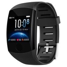 Q11 влагостойкие умные часы с ремешком фитнес-браслет большой сенсорный экран oled-сообщение частота сердечных сокращений отслеживание активности умный браслет часы