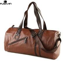 Marke Männer Weichem Leder Reisetasche Casual Männer Leder Umhängetasche & Reise Tote Wasserdicht Mode-taschen Bolso Deporte Barrel