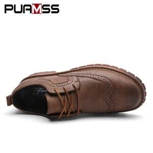 Image 3 - Herbst Neue Männer Martens Schuhe Brogue Casual Schuhe Männer Echtes Leder Schuhe Arbeit Business Casual Turnschuhe