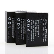 3 шт. 7.2 В 1200 мАч LP-E12 LPE12 LP E12 Rechargeble Камера Аккумуляторы для Canon EOS M m2 100d EOSM eosm2 eos100d