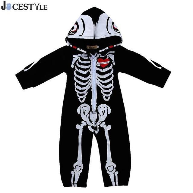 ea37a6947aad JOCESTYLE Newborn Infant Baby Boys Girls Romper Skull Long Sleeve ...