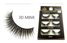 лучшая цена Free Shipping False Eyelashes Natural Long 3pairs/box Handmade Eyelashes Externsion 3D Mink eyelashes for Make up