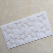 Креативная Звезда помадка шоколадная форма силиконовая форма для украшения торта инструменты