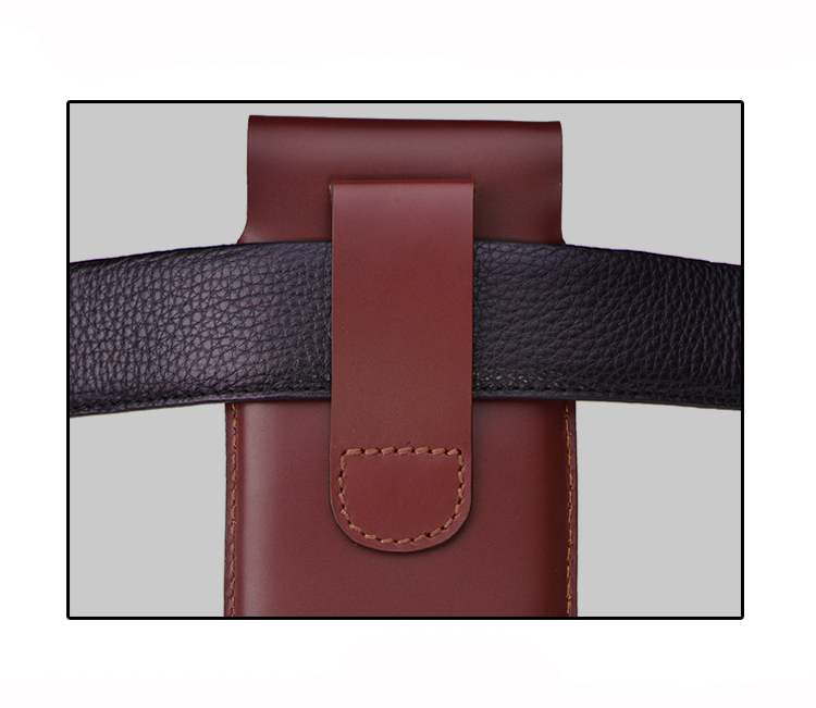 84f3fc5756 SZLHRSD Men Belt Clip Genuine Leather Pouch Waist Bag Phone Cover for Caterpillar  Cat S31 S41 S40 Cases Black Cell Accessory -in Wallet Cases from ...