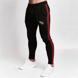 2019 высокое качество костюм для тренажерного зала Штаны мужские черные края Конические пота Штаны длинные штаны для фитнеса для бегунов