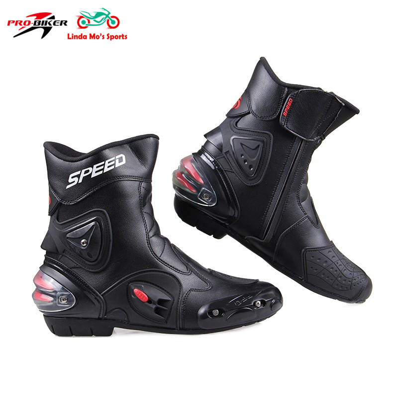 PRO-BIKER Men Ankle joint protection motorcycle boots shoes bota motociclist motocross Racing Motor Boots rider botas moto boots pro biker mcs 01a motorcycle racing full finger protective gloves blue black size m pair