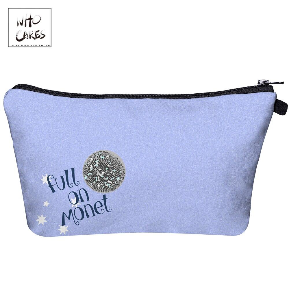 Who Cares Cartoon ripple 3D Printing Makeup Bags Fashion Cosmetic Organizer Bag Cosmetics