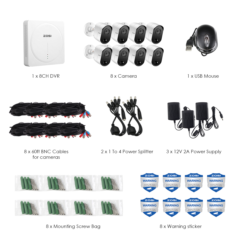 5MP Home Security Surveillance System with 2TB Hard Drive and Motion Sensors 1