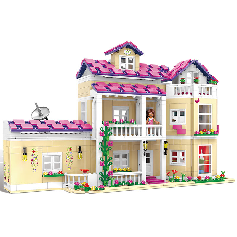 XINGBAO 12006 Kid Toys 1334Pcs Girl Series The Happy Dormitory Set Building Blocks Bricks Educational LegoINGys Girls Toys Gifts little white dragon assembling toys educational toys girl fantasy girls beach villa 423