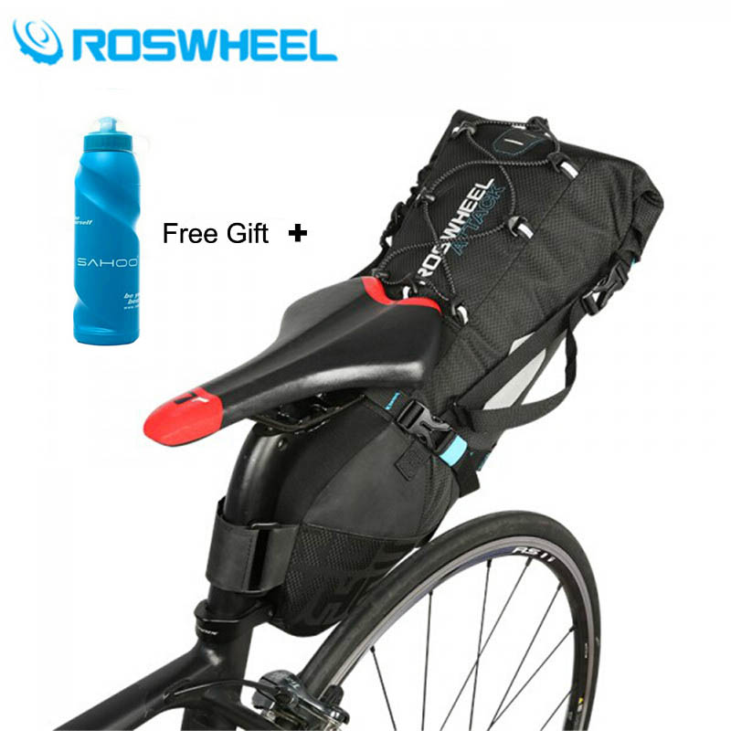 ROSWHEEL 2017 New 10L MTB Bike Bag Cycling Bicycle Saddle Tail Rear Seat 100% Waterproof High-capacity Storage Bags Accessories roswheel 10l bicycle saddle bag nylon with double wall tpu water resistant bike tail bag bicycle rear pack unisex bag