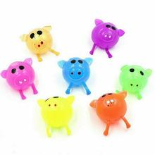 1Pc Anti-stress Decompression Splat Ball Vent Toy Smash Various Styles Pig Toys squeeze toy Venting Sticky Water