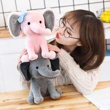 25cm Bedtime Originals Choo Choo Express peluş oyuncaklar fil Humphrey yumuşak dolması peluş hayvan bebek çocuklar için doğum günü hediyesi