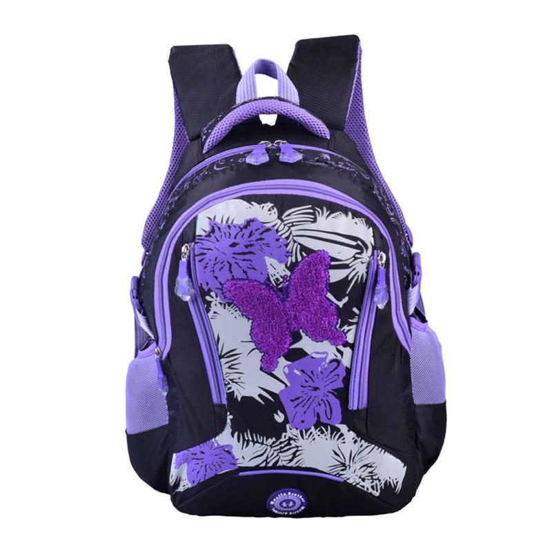 Купить с кэшбэком wenjie brother Girl School Bags For middle high school backpack girls shoulder travel bags rucksack mochila knapsack