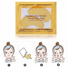 10pcs=5packs Natural Gold Crystal Collagen Eye Mask Women Care Masks Moisturizing Anti-Wrinkle Remove Black Patches
